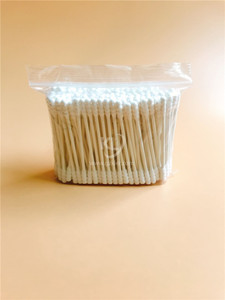 KL-P-09 200PCS Paper Stick Spiral Tips Cotton Buds In PE Zip Bag