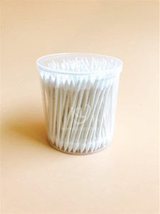 KL-P-18 200PCS Paper Stick Sharp Tips Cotton Buds In PP Can