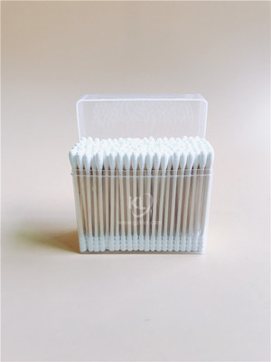 KL-W-13 200PCS Wooden Stick Round Tips&Spiral Tips Cotton Buds In PP Box