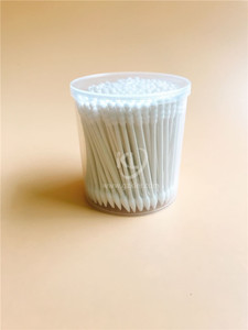 KL-P-26 200PCS Paper Stick Spiral Tips&Sharp Tips Cotton Buds In PP Can