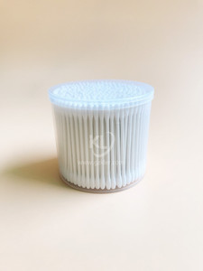 KL-P-06 300PCS Paper Stick Round Tips Cotton Buds In PP Can