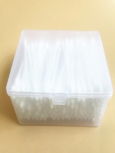 KL-S-02 200PCS Plastic Stick Round Tips Cotton Buds In PP Box