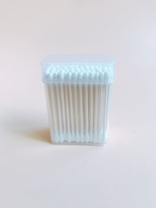 KL-B-02 100PCS Bamboo Stick Round Tips Cotton Buds In PP Box